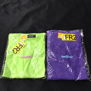 新同 ミントクルー FR2 コラボ M 綿 プリント 半袖 Tシャツ プリント 黄緑 他 パープル 含 タグ付 メンズ 計2点セット