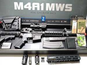 產品詳細資料,日本Yahoo代標|日本代購|日本批發-ibuy99|【中古品】東京マルイ M4A1 MWS ガスブローバック カスタムパーツセット
