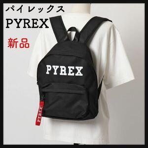 【新品】PYREX パイレックス ★バックパック リュック ロゴ 鞄 NERO/BIANCO メンズ ブラック 黒 ストリート系 大容量 送料無料★