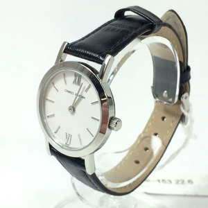 CHARLES JOURDAN シャルルジョルダン 153.22.6 クォーツ レザーベルト レディース 腕時計 未使用品