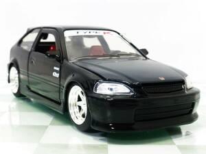 JDM TUNERS■JADA 1/24 1997 HONDA CIVIC TYPE-R BLACK■ホンダ シビック