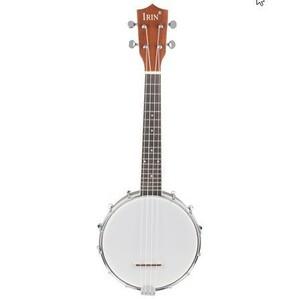 最安新品♪IRIN 23 インチサペレナイロン 4 弦コンサートバンジョー Uke ウクレレストラップギターベースウッドカラーギフト弦楽器