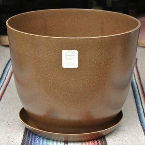 エコフォームズecoforms自然素材のエコ植木鉢【10号ポット&ソーサーセット】モカ 観葉植物 インテリアグリーン サボテン