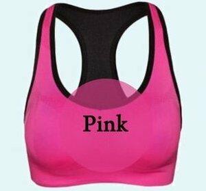 【スポーツブラ ピンク Mサイズ】スポブラ 揺れない ノンワイヤー ブラジャー ブラトップ タンクトップ スポーツ 黒 ヨガ フィットネス