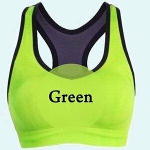 【スポーツブラ グリーン Sサイズ】スポブラ 揺れない ノンワイヤー ブラジャー ブラトップ タンクトップ スポーツ 黒 ヨガ フィットネス