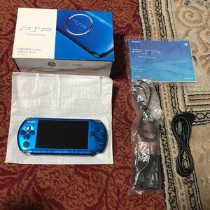 [新品同様 ほぼ未使用]SONY PSP 3000 バイブラントブルー VIBRANT BLUE 付属品 完備 PSP 希少 レア 人気カラー