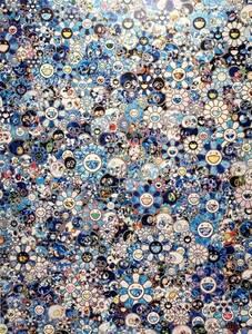 【真作保証】村上隆 お花ドクロ ゼロワン 300枚限定 直筆サイン入り ポスター 現代美術 Takashi Murakami kyne お花 ドクロ