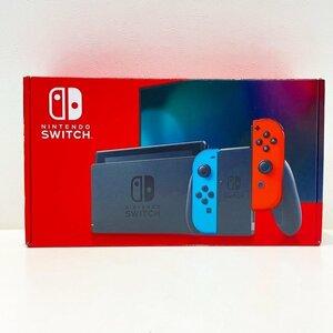 任天堂 Nintendo Switch ニンテンドースイッチ 新型 現行モデル ネオンブルー ネオンレッド HAD-S-KABAA 店舗印なし 中古美品 (U)