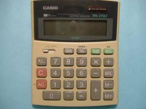 即決 カシオ 12桁電卓 ms-270LT 13×11cm