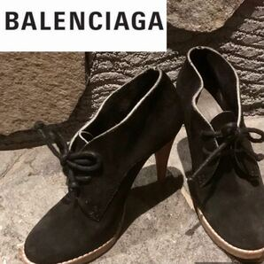 バレンシアガ BALENCIAGA ヒール ブーティー ハイヒール ショートブーツ