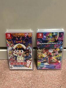 【Switch・新品】マリオカート8 と桃太郎電鉄 シュリンク付き 2本セット