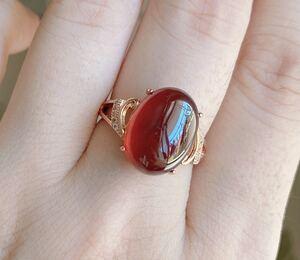 【天然石】無処理 ガーネットのリング(指輪)