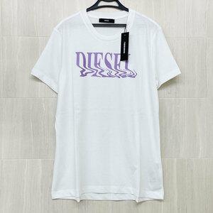 未使用・アウトレット処分品 DIESEL/ディーゼル レディース クルーネック 半袖 Tシャツ T-SILY-WN MAGLIETTA ホワイト/白 M 【63624】