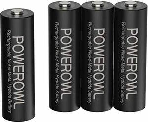 単3形4個パック 単3形充電池2800mAh Powerowl単3形充電式ニッケル水素電池4個パック 超大容量 PSE安全認証