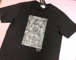 即決◆エドハーディー ED HARDY◆ 半袖Tシャツ【3L】新品タグ付き 黒 MIXロゴ メンズ 大きいサイズ ブラック ◆