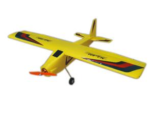 メカ類付属 簡単組立 懐かしのスタント入門トレーナー型高翼機 モーター アンプ サーボ組込み済み 800mmスパン