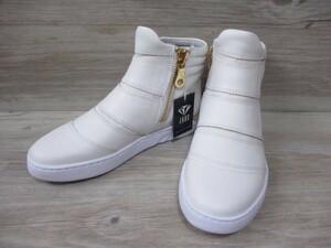 未使用◆23cm マドラス製 JADE レディース ハイカット スニーカー 本革 ジェイド カジュアル シューズ ダンス 靴 白 ホワイト 新品 32
