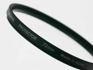 ノーブランド(日本製) レンズフィルター プロテクター 72mm ガラス素材 迅速発送 大型レンズ用保護フィルター 良品