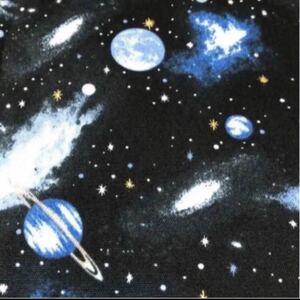 宇宙 惑星 銀河 ギャラクシー オックス 110×50 生地 はぎれ ハギレ