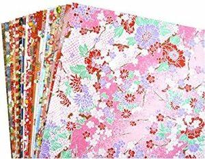 20枚Aタイプ 【Amazon.co.jp 限定】和紙かわ澄 千代紙 友禅和紙 B4 判 約25.7×36.4cm