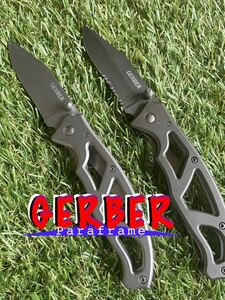 GERBER #010 Paraframe 2本セット ガーバー パラフレーム フォールディングナイフ 折りたたみナイフ