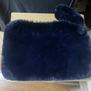 クラッチバッグ エコファーバッグ ネイビー レディース ふわふわ ハンドバッグ 未使用 ポーチ 冬物