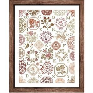 クロスステッチキット ジグソーローズガーデン 薔薇 バラ ローズ 18CT 43×55cm 刺繍