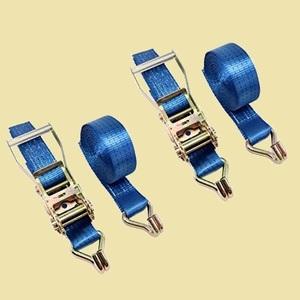 在庫残りあと僅か ラッシングベルト HELIX 9-JC 固定 日本語説明書付き 2本セット ラチェット式 ベルト幅 50mm 固定側 1m 巻側 5m