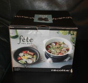 recolte (レコルト) ポットデュオ フェット [ ネイビー/RPD-3 ] recolte POT DUO fete 電気鍋 マルチクッカー ネイビー