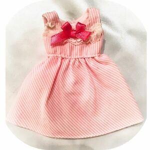 【*リカちゃん人形*着せ替え洋服*アウトフィット】ストライプ.ワンピース リカちゃんの服 ブライス対応可能
