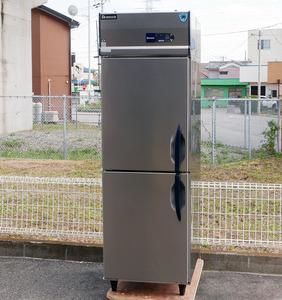 2014年製 大和冷機 縦型冷蔵庫 211CD-EC 100V 2ドア インバーター制御 幅600 奥行800mm