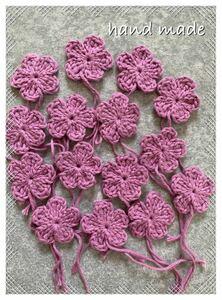 お花モチーフ かぎ針編み 手編み