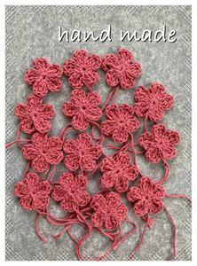 花モチーフ かぎ針編み ハンドメイド 手編み