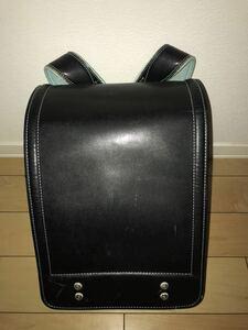 【送料無料・中古】土屋鞄 ランドセル 黒 ブラック