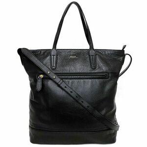 バリー 2way バッグ ブラック 美品 レザー 中古 BALLY ハンドバッグ トートバッグ 縦型 本革 定番 人気