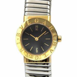 ブルガリ 腕時計 トゥボガス ゴールド シルバー ブラック ブルガリブルガリ BB23 2T 美品 電池交換済み K18