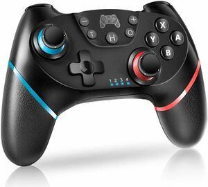 2点セットSwitch コントローラー 無線Bluetooth スイッチ HD振動 6軸ジャイロセンサー搭載 スイッチ プロコン TURBO連射機能付き