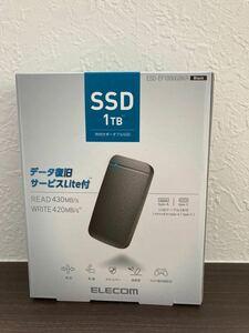 ESD-EF1000GBKR [USB Type-Cケーブル付き外付けポータブルSSD ESD-EFRシリーズ 1TB ブラック]