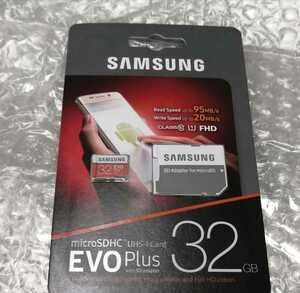 新品未開封★SAMSUNG EVO Plus microSDHCカード 32GB / MB-MC32GA-IT★送料無料