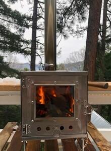 薪ストーブ メラテレビ ストーブ・ヒーター 3m 温かい 暖炉 使い勝手バツグン 冬キャン 軽量 野外用 屋外用 キャンプ アウトドア レジャ