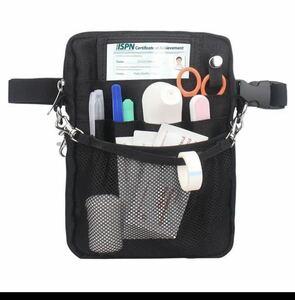 ナースポーチ 腰袋 工具袋 小物入れ 仕事用 作業袋 ウエストバッグ ベルト付