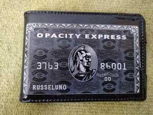 送料¥0 新品 未使用品 レア RUSSELUNO ラッセルノ スコアホルダ カードケース スコアー エナメル ブラック