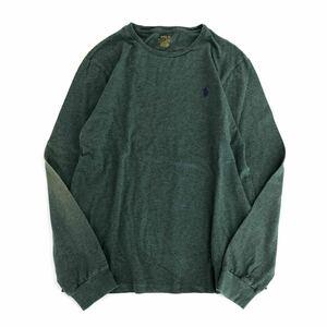 Di14 1 POLO RALPH LAUREN ポロ ラルフローレン 長袖Tシャツ ロンT カットソー トップス 胸元ロゴ刺繍 クルーネック Lサイズ メンズ 男性用