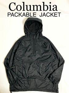 Columbia PACKABLE JACKETアノラックジャケット リップストップ 収納可能パッカブルタイプアウトドアキャンプに最適防寒コロンビアLサイズ