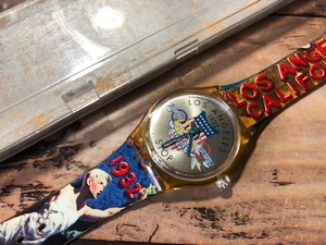 ケース有 良品程度 希少 レア swatch スウォッチ stop-watch AG1994 LOS ANGELES Atlanta アトランタ オリンピック 1996 クオーツ 腕時計