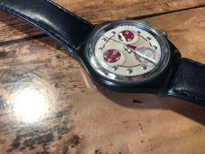 良好程度 レア swatch スウォッチ CHRONO クロノグラフ 純正ベルト AG1994 クオーツ メンズ 腕時計