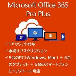Microsoft Office 365 Pro Plus 永続サブスクリプション 【1アカウント付き】 YM003