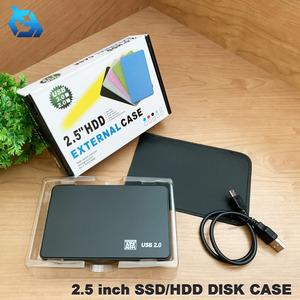 【ブラック】 化粧箱入り 2.5インチ HDD/SSD ケース USB接続 SATA ハードディスクケース 4TBまで 9.5mm/7mm厚両対応 工具不要