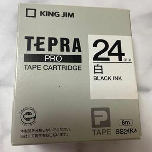 「テプラ」PROテープカートリッジ 24mm (白ラベル・黒文字)