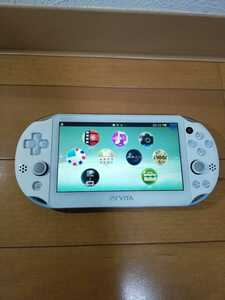● 美品 送料無料 fw3.55 PCH-2000 LightBlue White ライトブルー ホワイト SONY 中古 PS Vita PlayStation Vita psvita ●